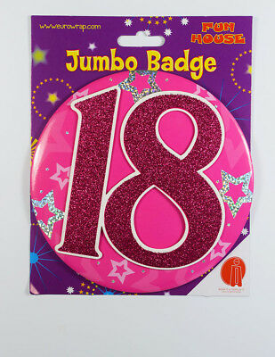 18 Today Birthday Badge Age Jumbo Large Girls Party Decoration 18th Accessory