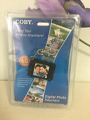 Coby DP151 Keychain Digital Photo Frame - DP-151BLK. New