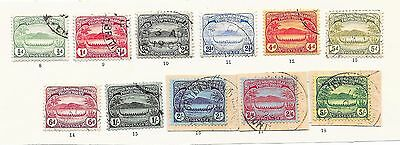 Solomon Islands stamps 1908 SG 8-17  CANC   VF