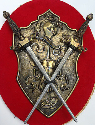 Small Metal Coat of Arms with Crossed Swords