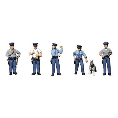 Painted Policemen (OO/HO figures x 6) Woodland Scenics A1822 - free post