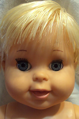 "VTG Ideal Betsy Wetsy baby doll 1989 17"" drink wet sleepy eyes rooted hair"