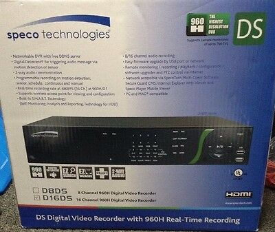 Speco 960H Real-Time 16-Channel DVR with Digital Deterrent - 2TB D16DS2TB {A}