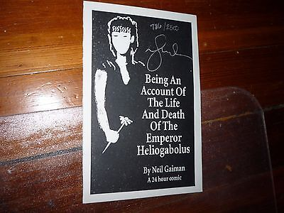 Being an Account of the Life & Death of Emperor Heliogabolus Neil Gaiman Signed