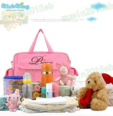 Nappy Diaper Baby Large Changing Bag Boy Girl Prince Princess Hospital Bag Set