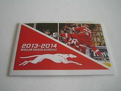 2013/14 Ohl Sault Ste. Marie Greyhounds Pocket Schedule**ontario Hockey League**