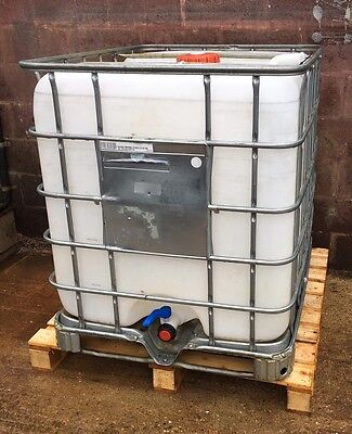 1000 Litre IBC Tank Butt Water Diesel Storage With Tap PICK UP ONLY