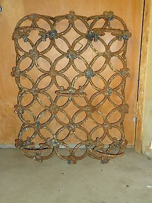 Antique Iron Plant Holder,5 Plants,super Unique Wall Mounted Spikes,blacksmith