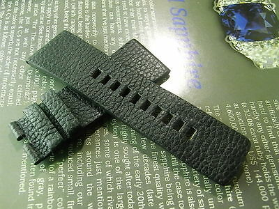 Cool Nos Diesel Black Military Leather 30Mm Mens Watch Band