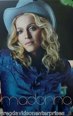 Madonna 22x34 Music Close Up Poster 1998 Cowboy hat