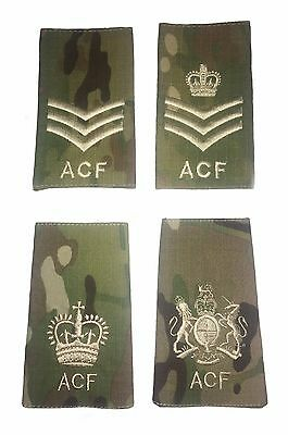 ACF Army Cadet Force CFAV Adults Rank Slides MTP Ivory Thread Single or Pair