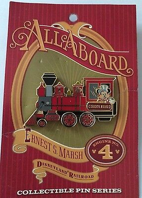 Disney DLR Ernest S Marsh Mickey Train Conducter Engine LE Pin NEW ON CARD