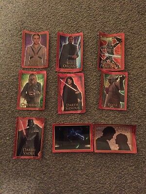 Star Wars Revenge of the Sith Merlin Foil & Poster Stickers x19