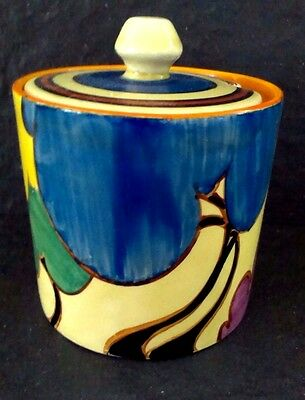 "Clarice Cliff  ""Blue Autumn"" Honey Pot"