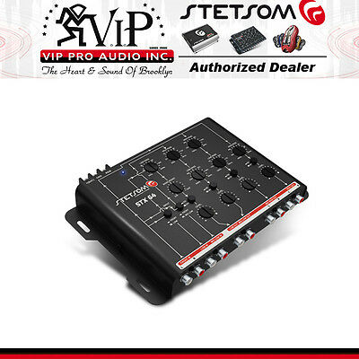 Stetsom STX-64 4-Way Car Audio Crossover 9 Volt Output New 2016 Version
