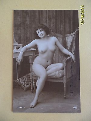 Original French 1910's - 1920's Jean Agelou Nude Risque postcard Woman Lady #7