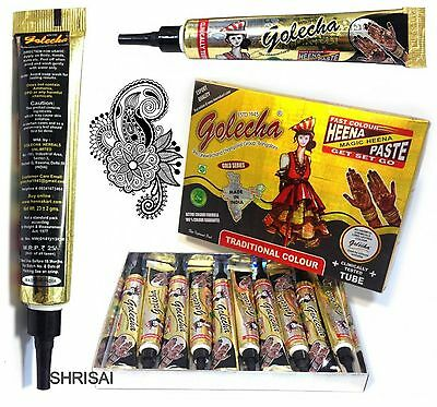 1 X  Black Henna Indian Arabic Henna Mehandi Tattoo Tube+Quick Dry+Fast Post