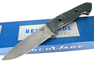 Benchmade Sibert Bushcrafter 162 Fixed Blade Knife Green / Red G-10 Handle