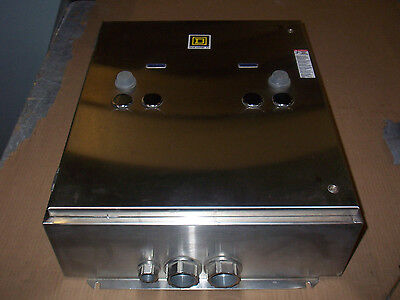 Square D Empty Stainless Steel Starter Enclosure Duel Resets 21x26x8 4X