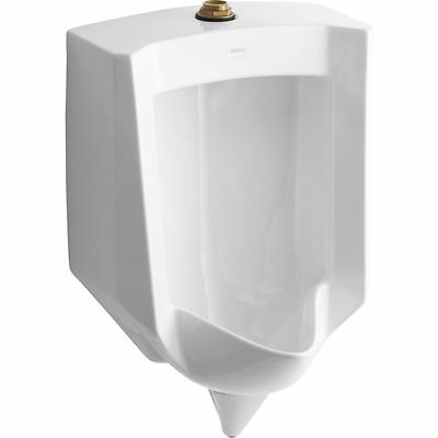 KOHLER Urinal Stanwell 18.125-in W x 27.625-in H White Wall-Mounted 4972-ET-0