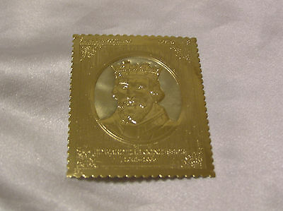 EDWARD THE CONFESSOR 1042 1066 STAMP STAFFA SCOTLAND layered in 23kt GOLD