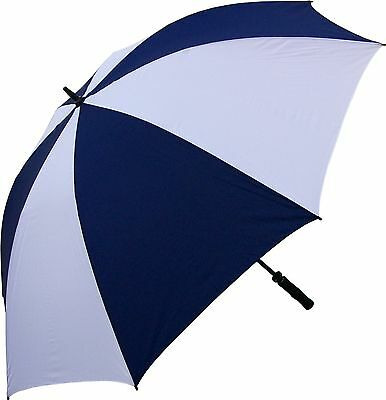 RainStoppers 68-Inch Oversize Windproof Golf Umbrella Navy/White