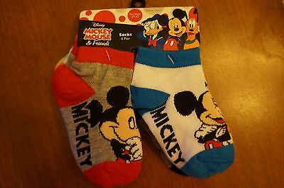 NEW Disney Mickey Mouse Toddler Boys Socks 6 Pairs 2T-4T
