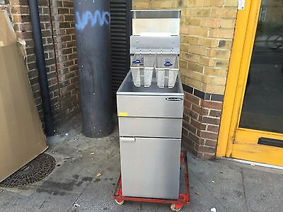Commercial Twin Basket Gas Fryer Catering Kitchen Fast Food