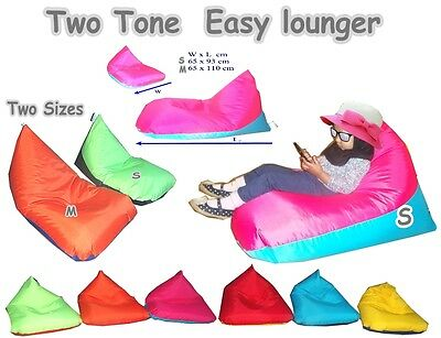 Two Tone Easy Lounge Kids & Childrens Pyramid Beanbag Triangular Bean Bags Chair