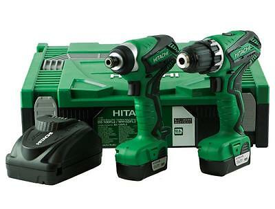 Hitachi Kc10Dfl2 10.8V Lithium Ion Impact & Drill Twin Kit With 2 Batteries