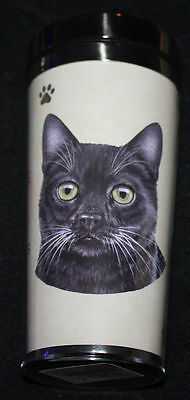 Black Cat Dog Stainless Steel Insulated Travel Tumbler Thermos