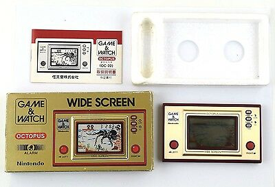 Game and Watch Octopus Wide Screen Nintendo G&W Japan