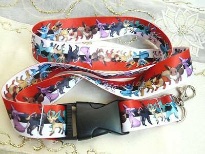 Cool Pokemon characters printed neck strap for keys/ID. Free P&P, UK seller