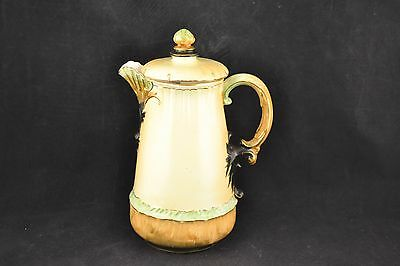 Antique HAMPSHIRE POTTERY Chocolate Pot  Royal Worcester Finish   ND2461