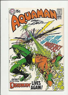 Aquaman #50 (DC 1970) Deadman Signed By Neal Adams