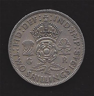 1948 Great Britain * 2 Two Shillings Coin * Vf * Florin * Uk Gb * Km# 865