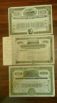 Titanic stock certificate   1929 International Mercantile Marine Brown share