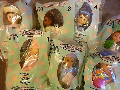 Group of Seven (7) McDonald's Madame Alexander Dolls (Wrapped)