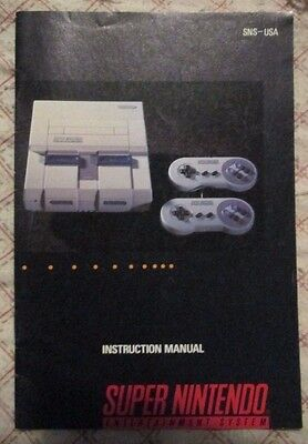 Super Nintendo SNES - Console (Manual only)