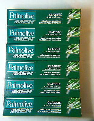 Six Tubes of Palmolive Classic Lather Shave Cream 100ml