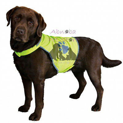 Polyester Safety Vest reflective piping & paws fully adjustable late night walks