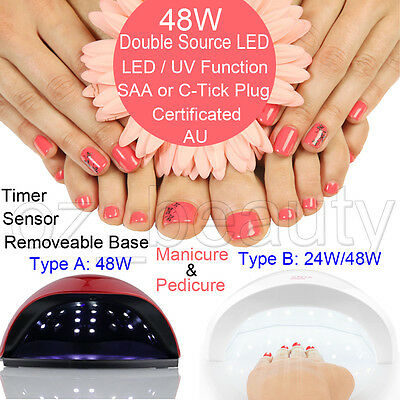 48W Gel Dryer Nail Curing Tool 3 Colors LED UV Lamp Drying For Shellac Polish