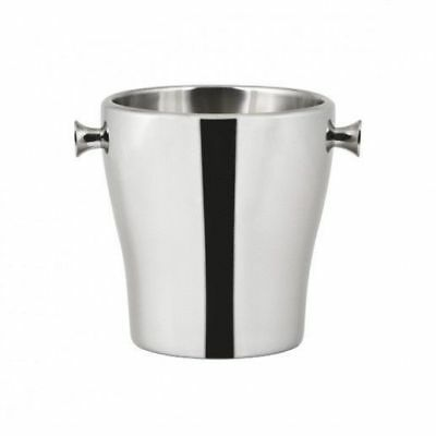 12x Wine Cooler / Champagne Bucket, Insulated Stainless Steel Tulip Style 190mm