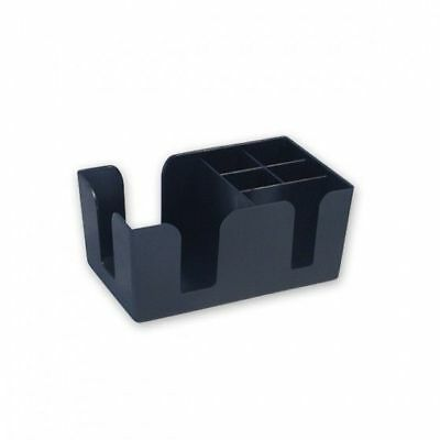 Bar Caddy / Organiser, 6 Compartments, Plastic, Holds Straws, Coasters, Napkins