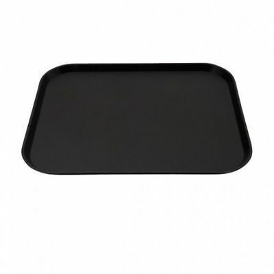 12x Tray, Fast Food Style, Black Polypropylene, Cafeteria, 300 x 400mm