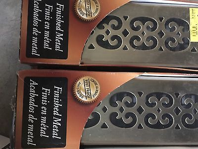 SPH212-A 2x12 Scroll Steel Plated Antique Decor Grates