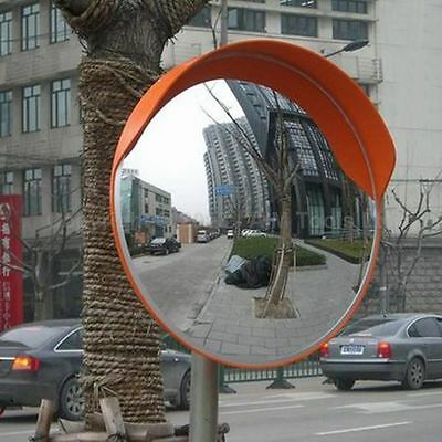 457123 Traffic Wide Angle Security Curved Convex Road Mirror 180 Degrees 45cm