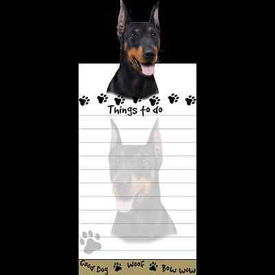 Doberman Pinscher Dog Magnetic Grocery List Pad Sticky Notes Magnet Refrigerater