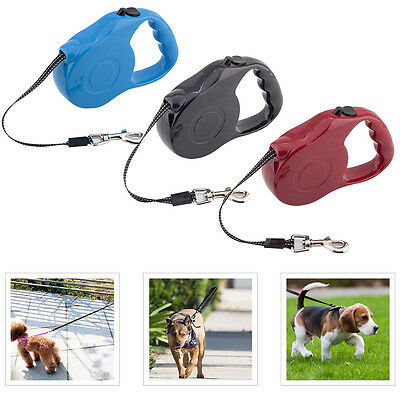 5M Strong Retractable Dog Pet Lead Leash Extendable Training Tape Hold Max 35KG