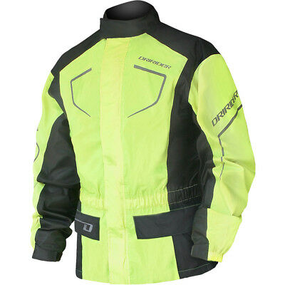 NEW DriRider Thunderwear 2 Wet Weather Waterproof Hi-Vis Fluro Motorcycle Jacket